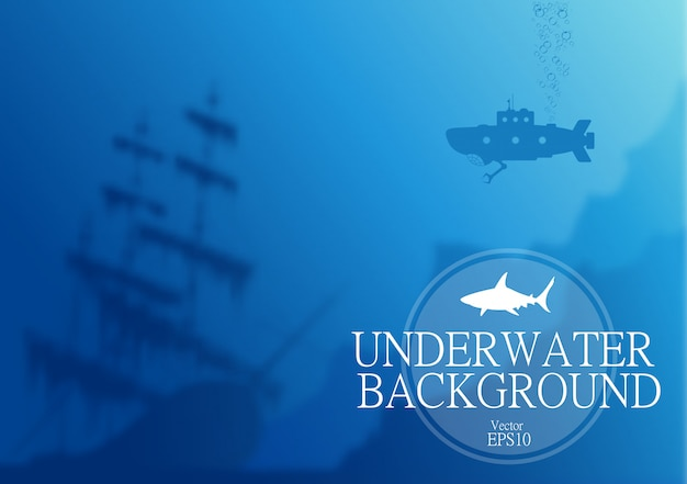 Fond sous-marin flou
