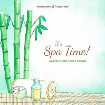Fond de spa avec des produits aromatiques
