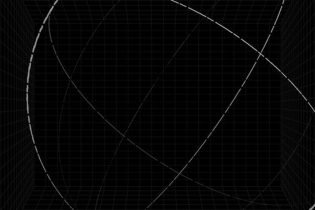 Fond de sphère contour blanc 3d