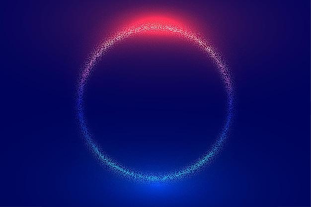 Fond de sphère de particules numériques abstraites
