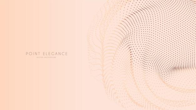 Fond de sphère de point de glitch abstrait beige.