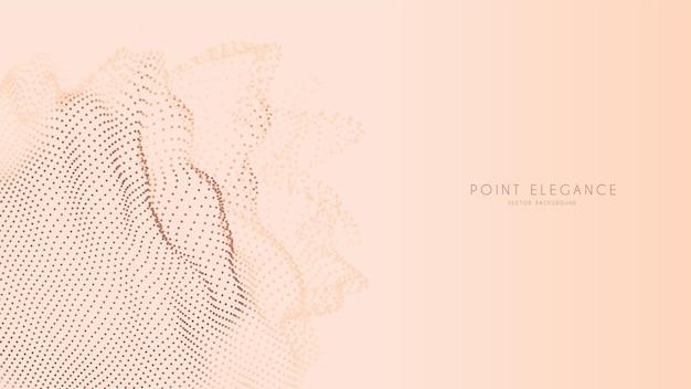 Fond de sphère de point de glitch abstrait beige
