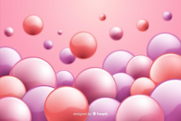 Fond de sphères en plastique brillant réaliste