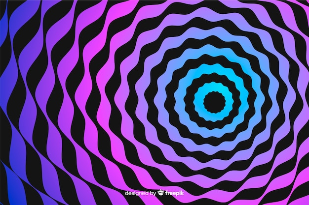Fond de spirale effet illusion