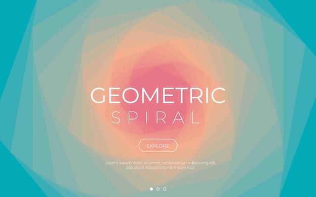 Fond de spirale géométrique coloré