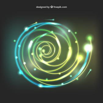 Fond spirale de lumière