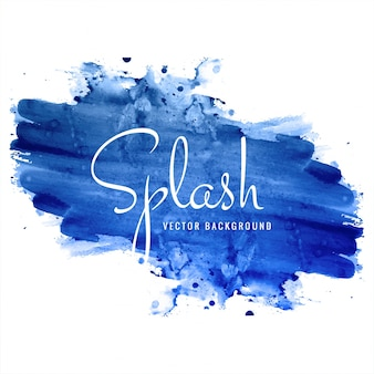 Fond de splash aquarelle bleu dessiné à la main belle