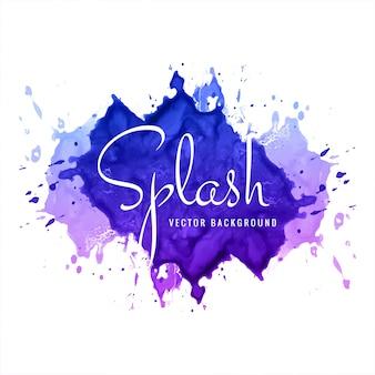 Fond de splash aquarelle coloré abstrait