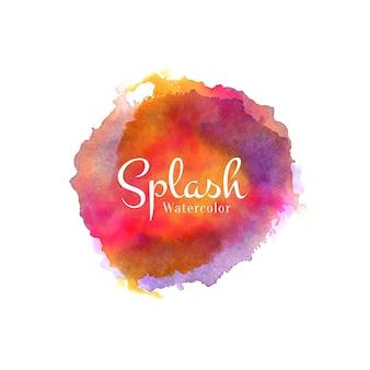 Fond de splash aquarelle coloré