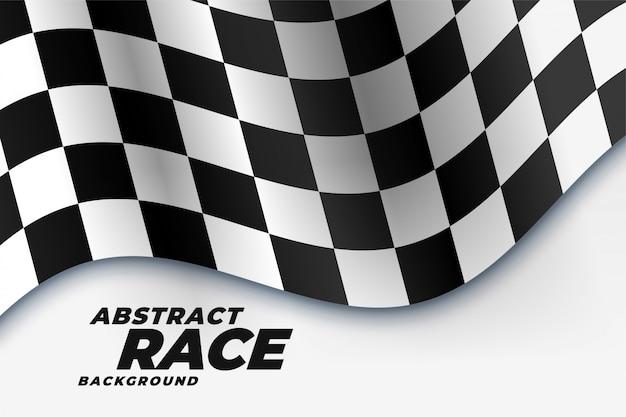 Fond de sport drapeau de course damier