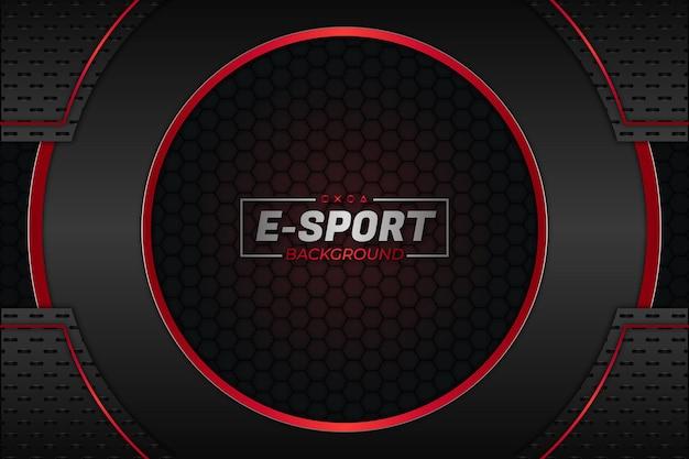 Fond de sport électronique style sombre et rouge