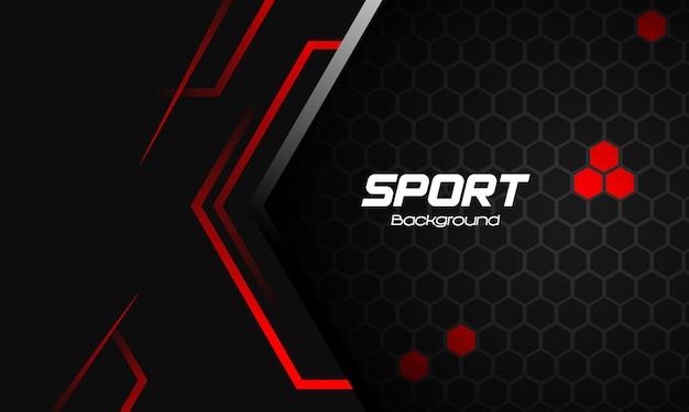 Fond de sport avec des formes abstraites rouges