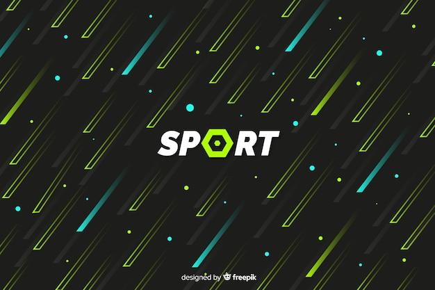 Fond de sport avec des formes abstraites