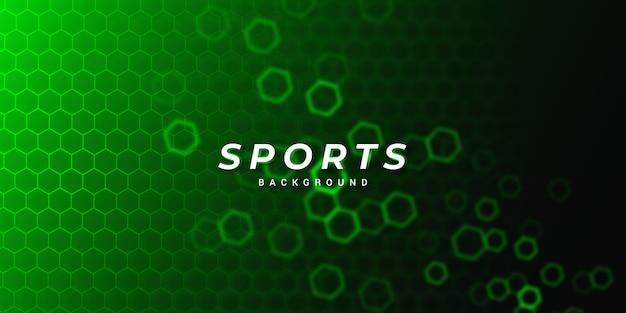 Fond de sport hexagonal moderne vert