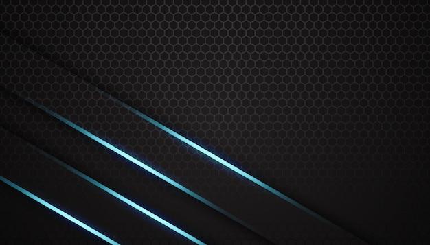 Fond de sport de luxe hexagone lumière bleue