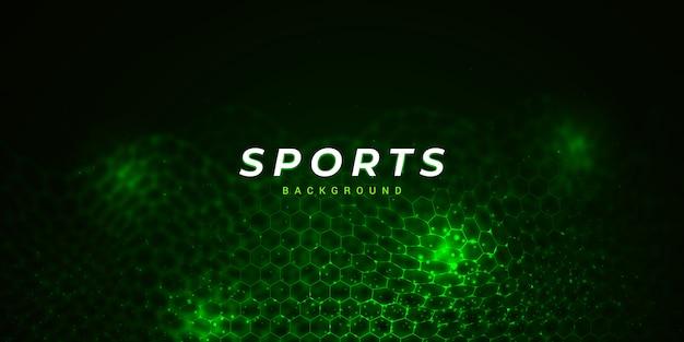 Fond de sport polygone vert avec effet de lumière