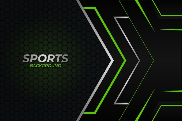 Fond de sport style sombre et vert