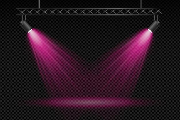Fond de spots lumineux
