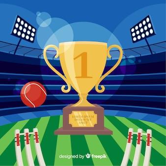 Fond de stade de cricket plat