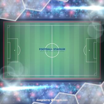 Fond de stade de football dans un style réaliste