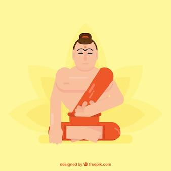 Fond de la statue de bouddha