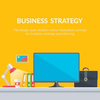 Fond de stratégie d'entreprise