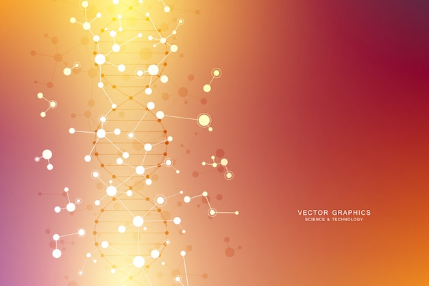 Fond de structure moléculaire