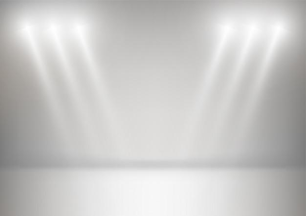 Fond de studio abstrait fond blanc et gris