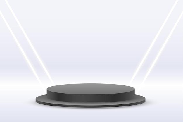 Fond de studio blanc avec podium d'affichage de produit
