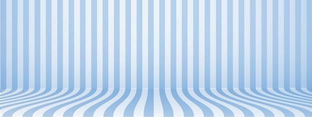 Fond de studio bleu avec rayures, horizontal, style rétro, illustration.