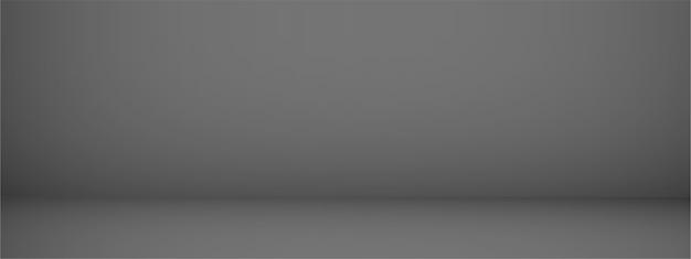 Fond de studio avec espace pour le texte, pièce vide noire, pour les produits d'affichage, horizontal, illustration.