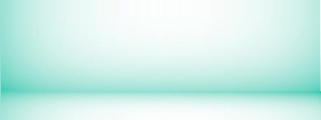 Fond de studio avec espace pour le texte, pièce vide verte, pour les produits d'affichage, horizontal, illustration.