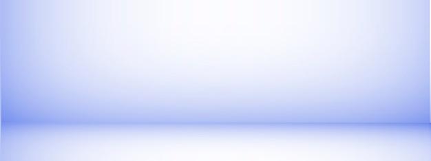 Fond de studio avec espace pour le texte, salle vide bleue, pour les produits d'affichage, horizontal, illustration.