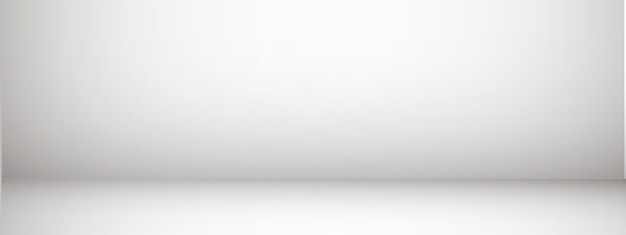 Fond de studio avec espace pour le texte, salle vide grise, pour les produits d'affichage, horizontal, illustration.