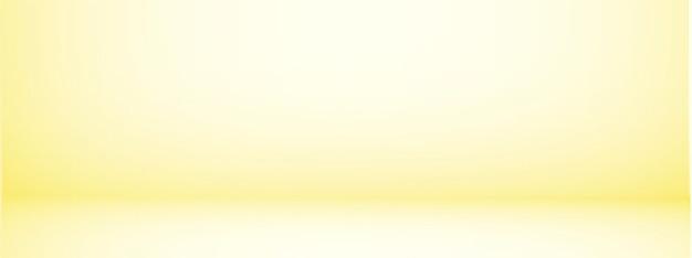 Fond de studio avec espace pour le texte, salle vide jaune, pour les produits d'affichage, horizontal, illustration.