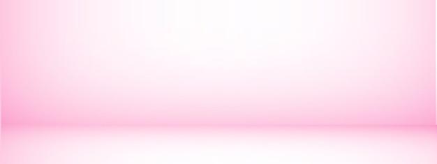 Fond de studio avec espace pour le texte, salle vide rose, pour les produits d'affichage, horizontal, illustration.
