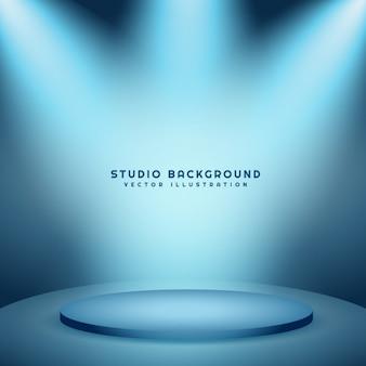 Fond de studio avec podium