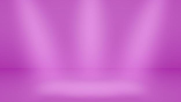 Fond de studio vide avec un éclairage doux dans des couleurs violettes