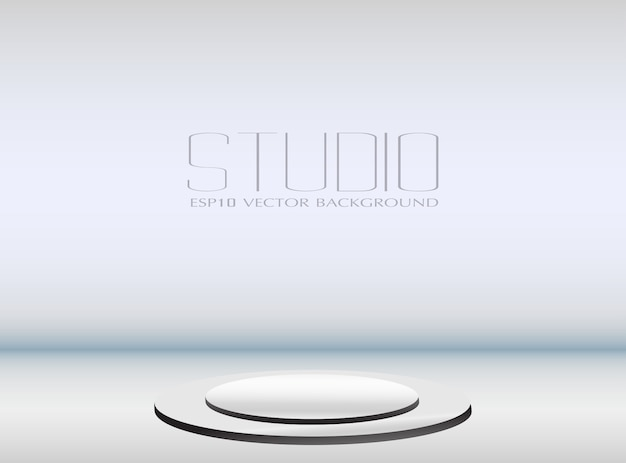 Fond de studio vide avec podium