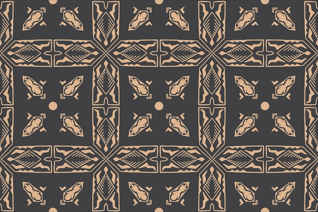 Fond de style ancien motif ethnique sans couture dessinés à la main