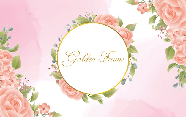 Fond avec style aquarelle rose