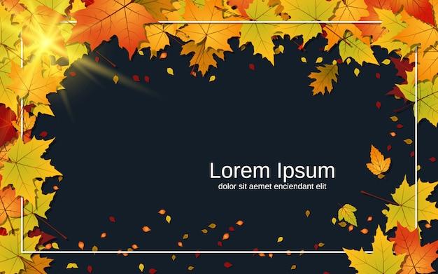 Fond de style automne avec des feuilles colorées