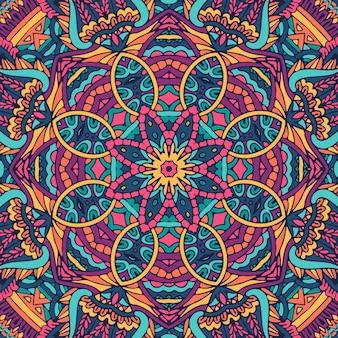 Fond de style aztèque de carnaval psychédélique