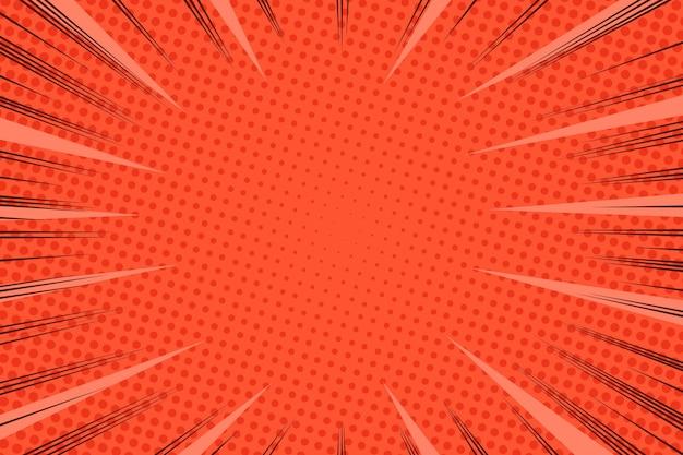 Fond de style bande dessinée lumières de vitesse en pointillé