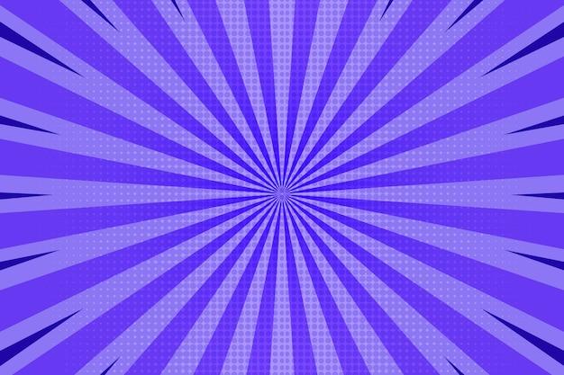 Fond de style bande dessinée violet plat