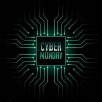 Fond de style de circuit de technologie cyber lundi