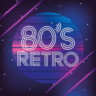 Fond de style graphique géométrique rétro des années 80