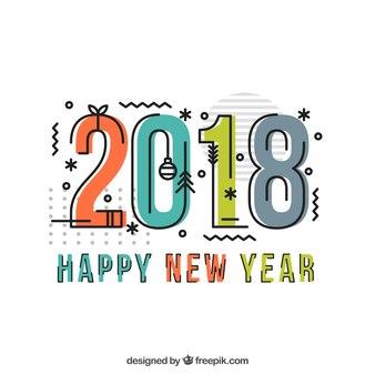 Fond de style memphis pour la nouvelle année 2018