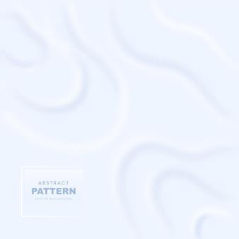 Fond de style neumorphique abstrait en couleur blanche.