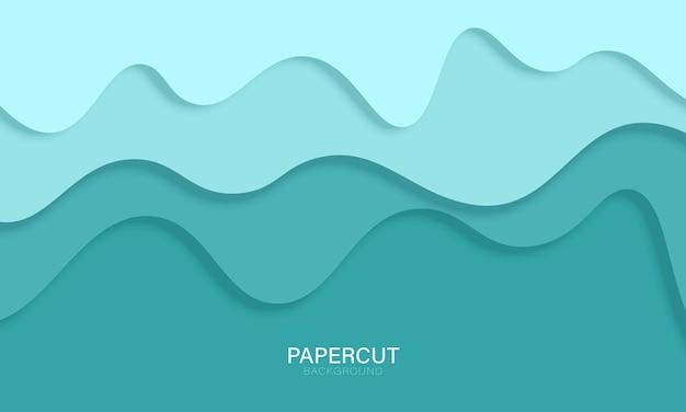 Fond de style papercut bleu clair. illustration vectorielle.